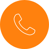 Icon with a phone inside