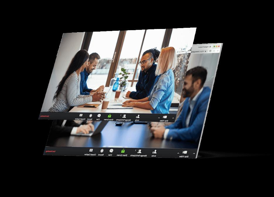 An online meeting on a computer screen