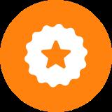 A star badge